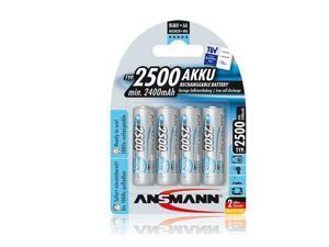 Ansmann Mignon AA HR6 1.2V NiMH Rechargeable Battery, 4-Pack #5035442-US