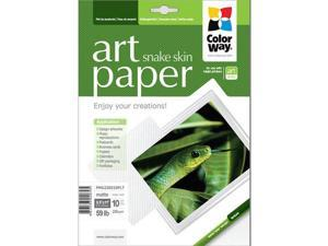 "Colorway ART Matte Snake Skin Textured Photo Paper, 220gm2, 8.5x11"", 10 Sheets"