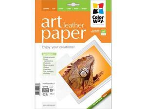 "Colorway ART Glossy Leather Textured Photo Paper, 8.5x11"", 10 Sheets"