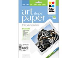 "Colorway ART Glossy Stripe Textured Photo Paper, 8.5x11"", 10 Sheets"