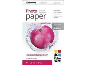 "Colorway Premium High Glossy Photo Paper, 255g/m2, 8.5x11"", 20 Sheets"
