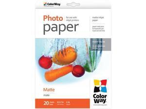 "Colorway Matte Photo Paper for Inkjet Printers, 190gm2, 8.5x11"", 20 Sheets"