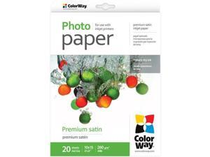 "Colorway Premium Satin Photo Paper, 260gm2, 4x6"", 20 Sheets #PS2600204R"
