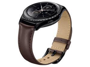 Samsung Leather Band for Gear S2 Classic, Brown #ET-SLR73MAEBUS
