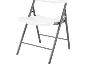 Lifetime 80191 Light Commercial Contemporary Folding Chair,4-Pack, White Granite