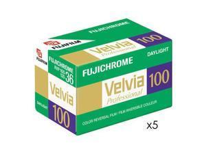 Fuji Velvia RVP 100 35mm Slide Film, 36 Exposure, 5-Pk #16326042