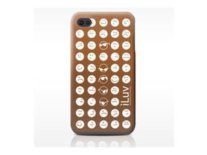 iLuv EMOTICON Brown Soft Coated Ultra Thin Case For iPhone 4/4S iCC731
