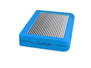 CalDigit Tuff 2TB USB 3.1 Type-C (Gen 2) External Hard Drive, Blue #500547