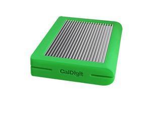CalDigit Tuff 2TB USB 3.1 Type-C (Gen 2) External Hard Drive, Green #500546
