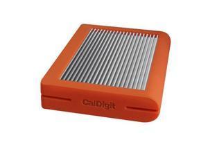 CalDigit Tuff 2TB USB 3.1 Type-C (Gen 2) External Hard Drive, Orange #500540