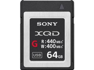 Sony G Series 64GB XQD Memory Card, 400MB/s Write Speed, 440MB/s Read Speed
