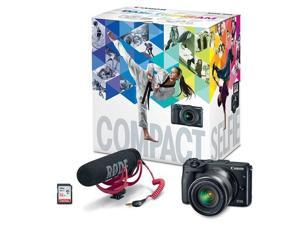 Canon EOS M3 w/EF-M 18-55mm F3.5/5.6 IS STM Lens, Black & Rode Mic, 32GB Card