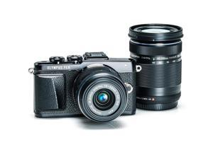 Olympus PEN E-PL7 Mirrorless Camera Black 2 Lens Kit with 14-42mm & 40-150mm
