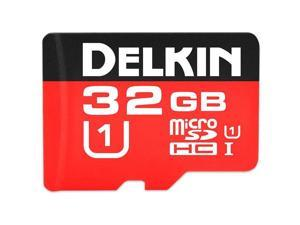 Delkin Devices 32GB microSDHC 500X UHS-I U1 Memory Card with SD Card Adapter