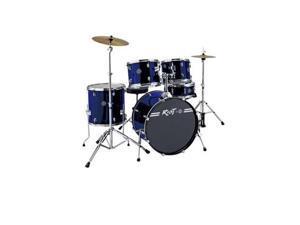 Dixon Riot 522 5-Piece Drum Set, Bark Blue #RT522DB