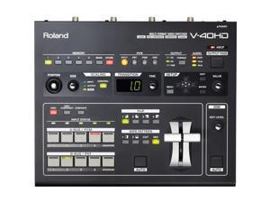 Roland Multi-Format Video Switcher, 24 bits/48kHz Audio Processing #V-40HD