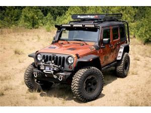 Rugged Ridge 11640.10 Flat Pocket Fender Flare Set&#59; Incl. Two Sets Of HD Corrosion Resistant Fasteners&#59; Stainless Steel  And Black&#59;