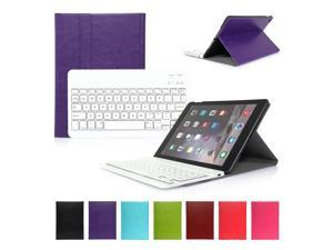 For iPad Air 2 iPad 6 Wireless Bluetooth Keyboard with Leather Case Stand Cover