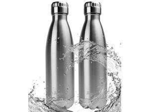 Bruntmor BRBF2 Double Wall Vacuum Insulated 18/10 Stainless Steel Water Bottle 17 oz - Set of 2