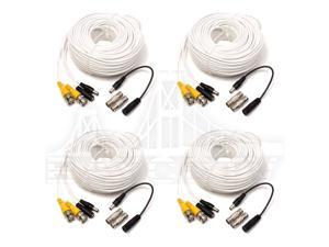Q-see Lot 4 QS100B 100FT BNC Male Cable w 2 Female Connectors
