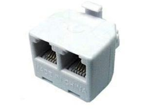 Cables Unlimited UTP-2400 RJ11 Male to 2 Female Adapter (1 Inch, Gray