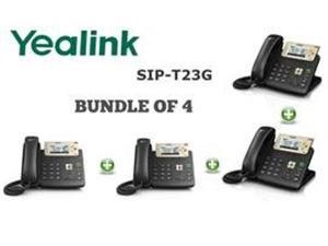 Yealink SIP-T23G,3 Lines HD Professional VoIP Phone,PoE,BUNDLE of 4