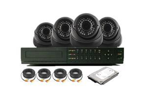 Nexhi 16CH STANDALONE 960H DVR Security System with 720P HD-CVI IR Dome Camera - Black, Cables and 1TB Hard Disk