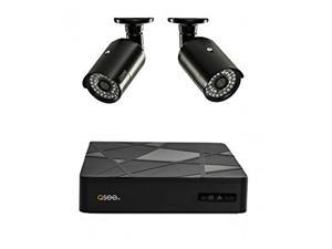 Q-SEE Analog 4 Channel Security System with 2 900 TVL Bullet Cameras QT554-2V6-5