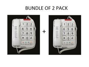 Northwestern Bell Big-Button Corded Phone Plus with 13-Number Memory (20200-1) Bundle of 2 Pack