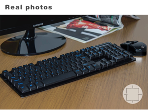 e570d5fbd26 NeweggBusiness - CORN 2.4GHz Wireless Mechanical Feeling Gaming Keyboard &  Mouse With Unique Ergonomic Design, Suspension Buttons, 19 Keys  Anti-Ghosting ...