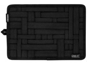 """CORN Electronics Accessories Travel Organizer Hard Drive Carring Case Cable Bag Grid-It  10.5"""" x 7.5""""(Black)"""