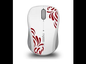 Rapoo 3100P White 3 Buttons 1 x Wheel USB 5GHz Wireless Optical 1000 dpi Mouse