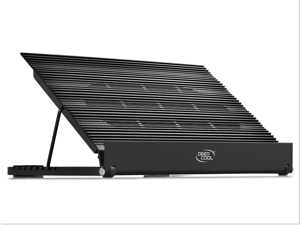 "DEEPCOOL N9 EX Laptop Cooling Pad up to17"" 8 Adjustable Using Angles Dual 140mm Fan speed adjustable Pure Aluminum Panel"