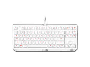 Razer BlackWidow Tournament Mechanical PC Gaming Keyboard - LGD Team Special White Collector's Edition