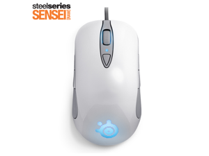 SteelSeries Sensei RAW 62155 Rubberized Black 8 Buttons 1 x Wheel USB Wired Laser 5700 dpi Gaming Mouse