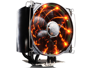 PC Cooler Wind Chill-Black Tiger Edition 12cm Orange LED PWM Fan with 5X 8mm Heatpipe Heatsink Radiator For Socket AM2/AM2+/AM3/FM1/FM2/ LGA1150/1151/1155/1156/775 CPU Cooler