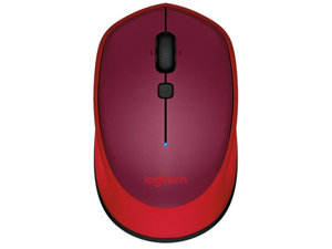 Logitech M336 Bluetooth Wireless Laser-grade optical 1000 dpi Mouse - Red