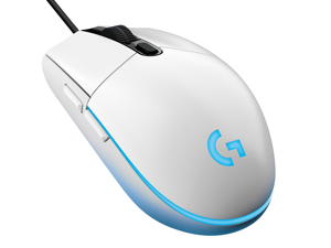 Logitech G102 IC PRODIGY 6000DPI 1000Hz Polling Rate 16.8M Color RGB Gaming Mouse - White