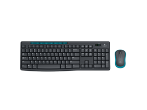 3f1dfc7e26b Logitech Wireless Combo MK275 8 Function Keys USB 2.0 RF Wireless Keyboard  & Mouse - Black&Blue
