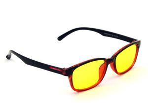 CORN YJ-1 Computer Reading Glasses Gaming Eyewear with UV Protection, Anti Blue Rays, Anti Glare and Scratch Resistant Lens - Red