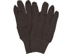 Boston Industrial 9oz. Brown Jersey Work Gloves, Knit Wrist, 12-Pack
