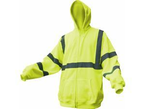 Boston industrial Class III Reflective High Visibility Hooded Sweatshirt - Size 2XL