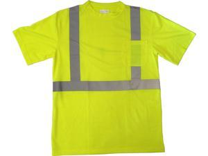 High Visibility Lime Green Class 2 T-shirt with Reflective Stripes - 3X