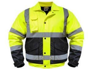 High Visibility Class III Reflective Jacket Removable Lining Two Tone - 4X