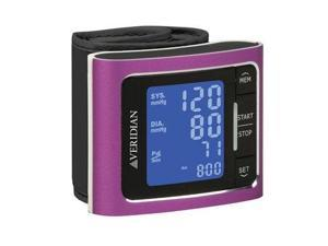 Veridian Metallic Style Digital Wrist Blood Pressure Monitor Pink
