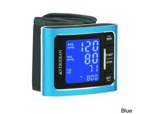 Veridian Metallic Style Digital Wrist Blood Pressure Monitor Blue