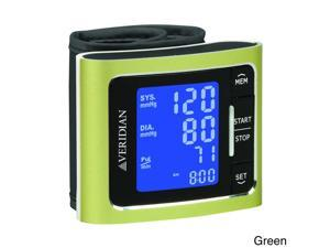Veridian Metallic Style Digital Wrist Blood Pressure Monitor Green