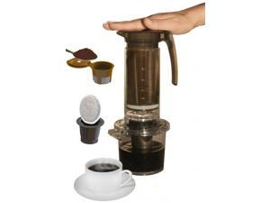Cafejo My French Press K-Cup Brewer (With K-Cup, Ground Coffee & Pod Adaptors)