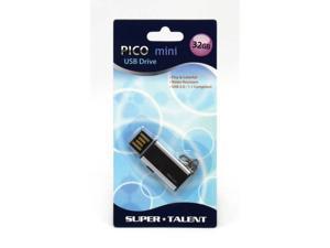 Super Talent Pico Mini-C 32GB USB 2.0 Flash Drive (Black)