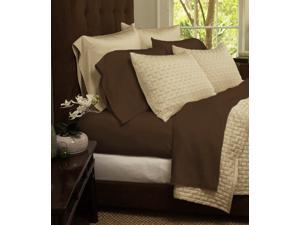 4-Piece Set: Super-Soft 1800 Series Bamboo Fiber Sheets - Chocolate